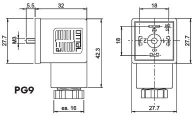 din43650a标准接线盒产品尺寸图